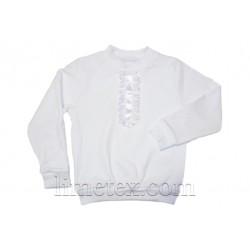 """Блуза  белая """"Жабо"""""""