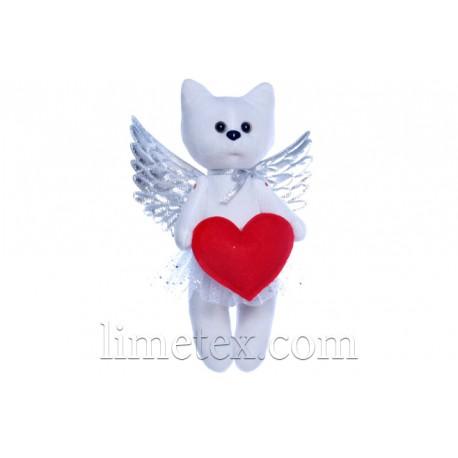 Мягкая игрушка Котенок - Ангелочек