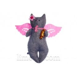 Мягкая игрушка Котик - Ангелочек