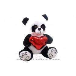 М'яка іграшка Панда із сердечком