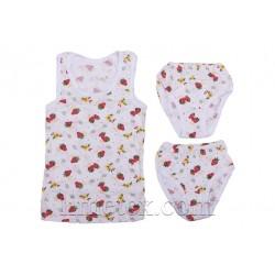 Комплект белья для девочки (майка и двое трусиков)