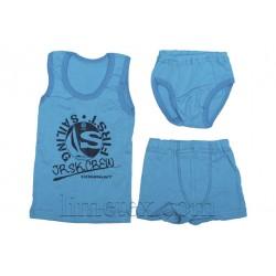 Комплект нижнего белья для мальчика (майка, трусы, трусы-боксеры)